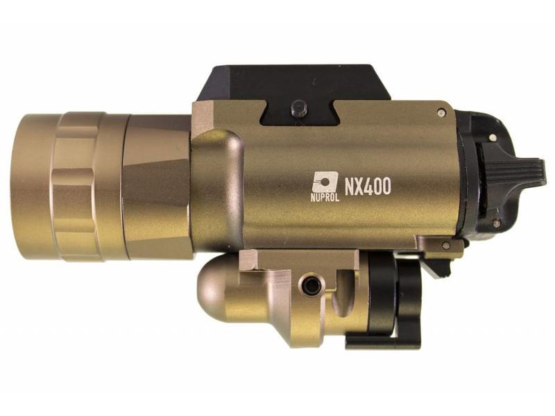 Nuprol NX400 Pistol Torch & Laser Tan