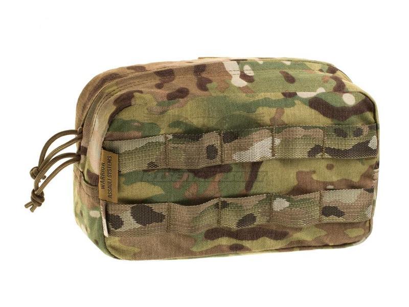 Warrior Medium Horizontal MOLLE Pouch Zipped Multicam