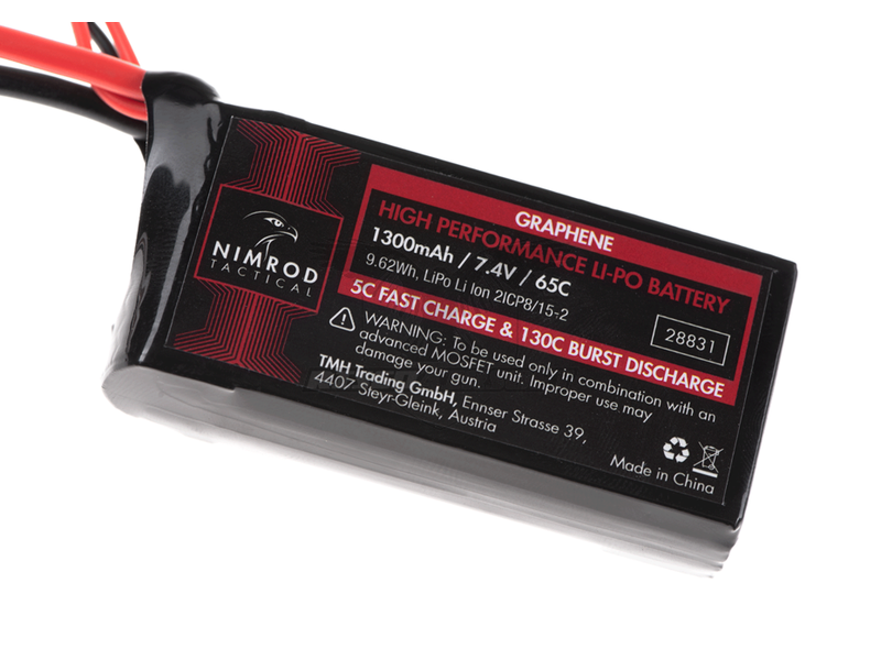 Nimrod Lipo 7.4V 1300mAh 65C Graphene Mini / PEQ Type T-Plug