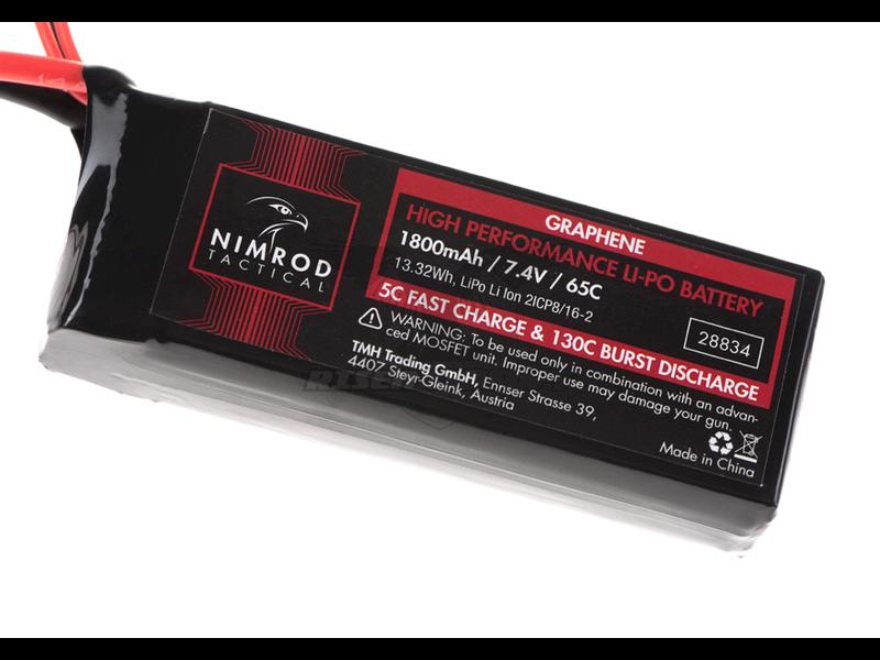 Nimrod Lipo 7.4V 1800mAh 65C Graphene Mini Type