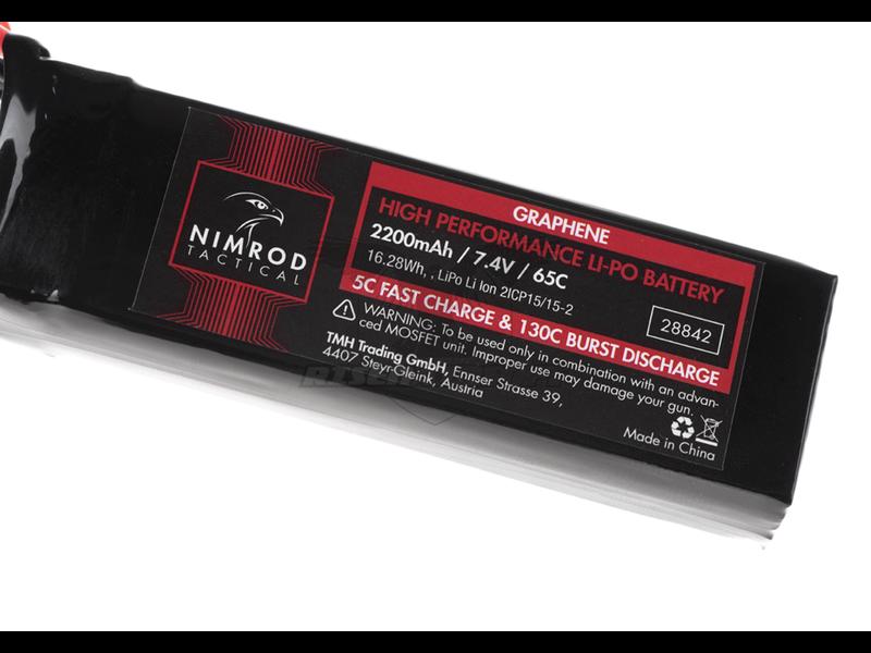 Nimrod Lipo 7.4V 2200mAh 65C Graphene Large Type