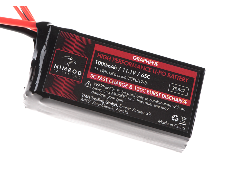 Nimrod Lipo 11.1V 1000mAh 65C Graphene PEQ Type T-Plug