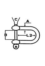 Lankhorst Taselaar RVS D-sluiting