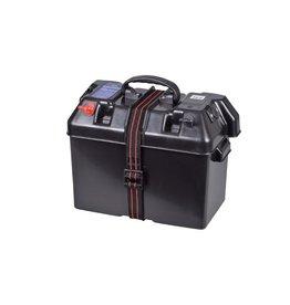 Lankhorst Taselaar Accubak met Quickfit aansluiting met 30A zekering, 2x12V stopcontact en accutester