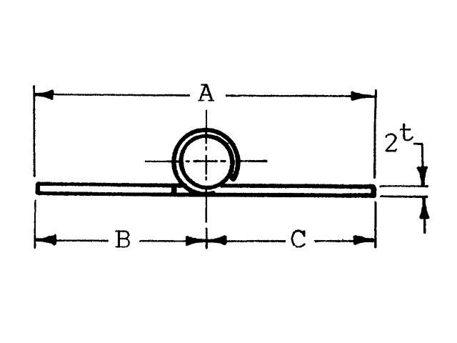 Lankhorst Taselaar SCHARNIER RVS  72X38,5X2 MM