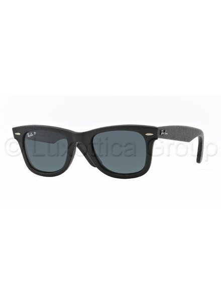 Ray-Ban Wayfarer Leather - RB2140QM 1152N5 Gepolariseerd