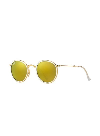 Ray-Ban Round Metal Folding - RB3517 001/93 | Ray-Ban Zonnebrillen | Fuva.nl