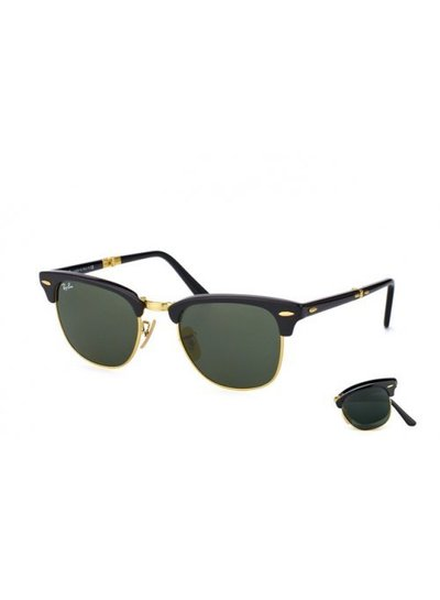 Ray-Ban Clubmaster Folding - RB2176 901 | Ray-Ban Zonnebrillen | Fuva.nl