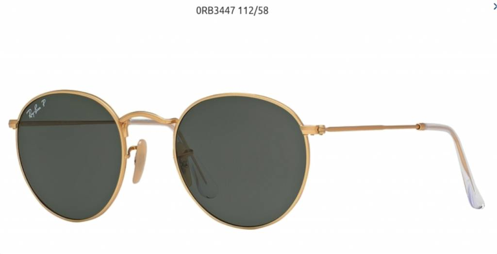 05ed387e4a76d1 Ray-Ban Round Metal - RB3447 001 58