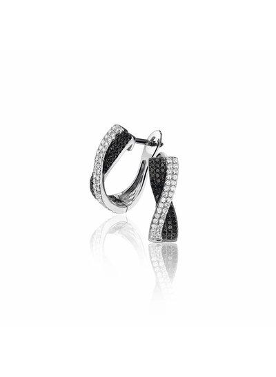 Oorhangers met 140 Diamanten | Oorbellen | Sieraden | Fuva.nl