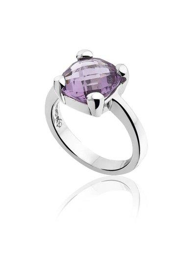 Zilveren ring met paarse Amethist steen | Ringen | Sieraden online bestellen | Fuva.nl