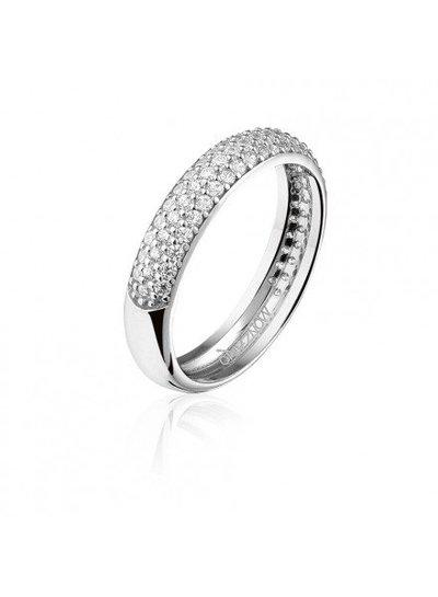Zilveren ring met Swarovski bergkristallen | Ringen | Sieraden online bestellen | Fuva.nl