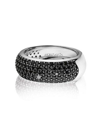 Zilveren ring met zwarte Swarovski bergkristallen   Ringen   Sieraden online bestellen   Fuva.nl