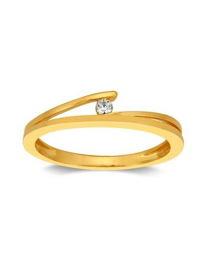 Gouden ring (14 Krt) met Diamant van 0,04ct | Trouw- Verlovingsring | Ringen | Sieraden online bestellen | Fuva.nl