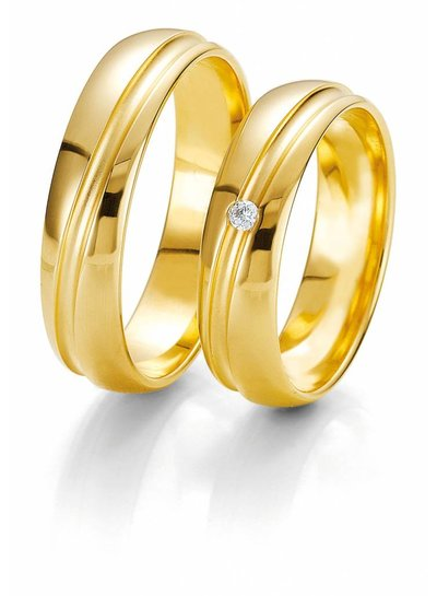 Gouden trouwringen Rainbow | Trouw- Verlovingsring | Ringen | Sieraden online bestellen | Fuva.nl