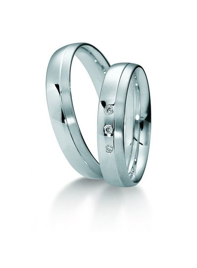 Klassiek witgouden trouwringen met 3 Diamanten | Trouw- Verlovingsring | Ringen | Sieraden online bestellen | Fuva.nl