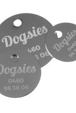 Hondenpenning rond - Messing - Vernikkeld