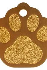 Hondenpenning pootje 32mm - Alu