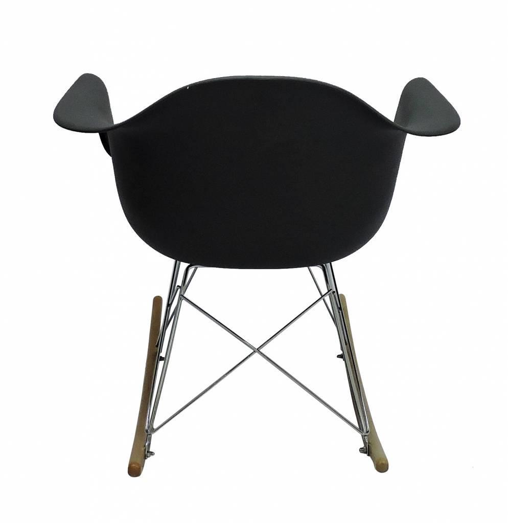 RAR Eames Design Schommelstoel Zwart