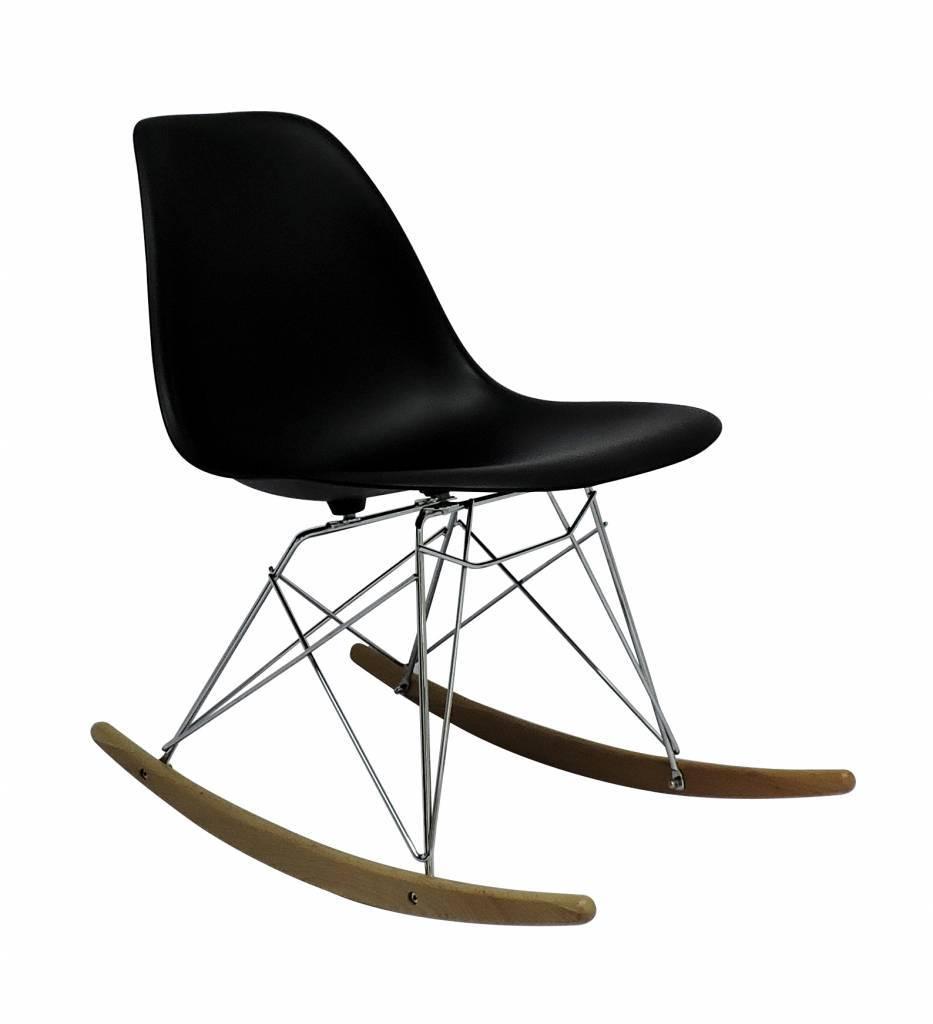 RSR Eames Design Schommelstoel Zwart