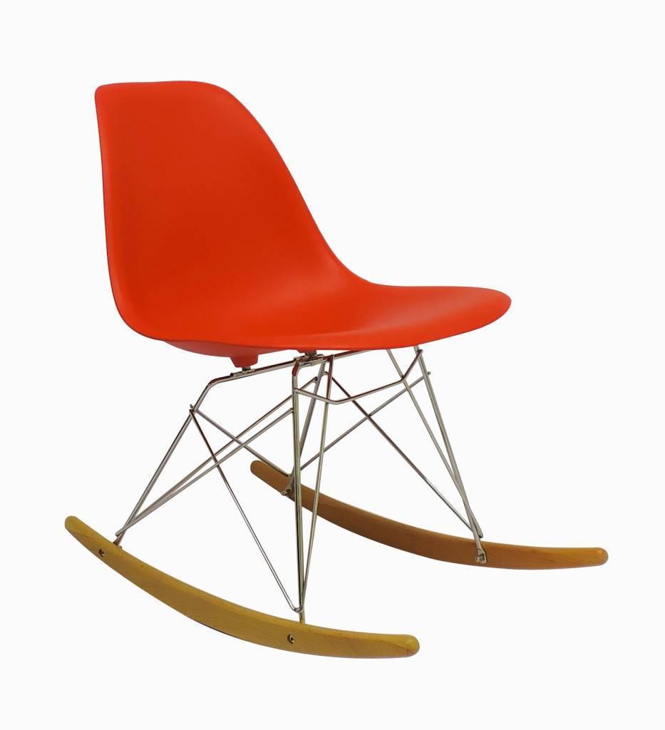 RSR Eames Design Schommelstoel Rood