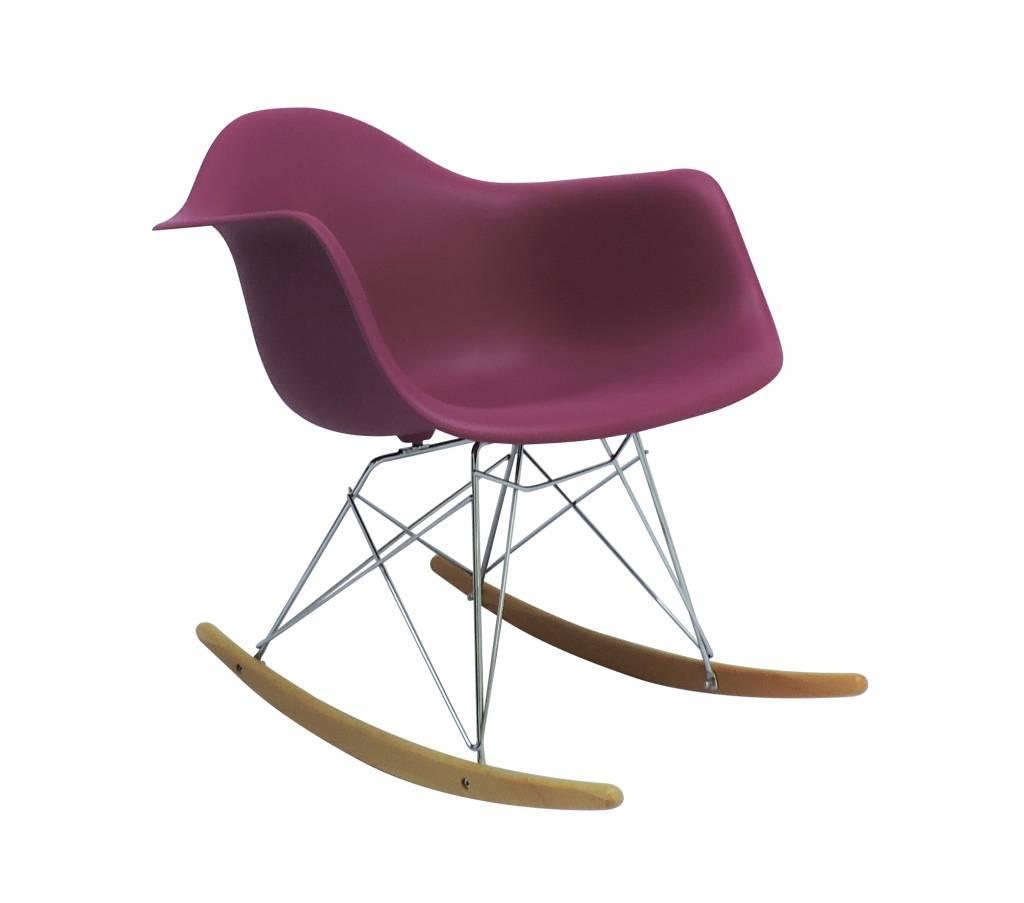 Schommelstoel Baby Roze.Rar Eames Design Schommelstoel Roze Eakus
