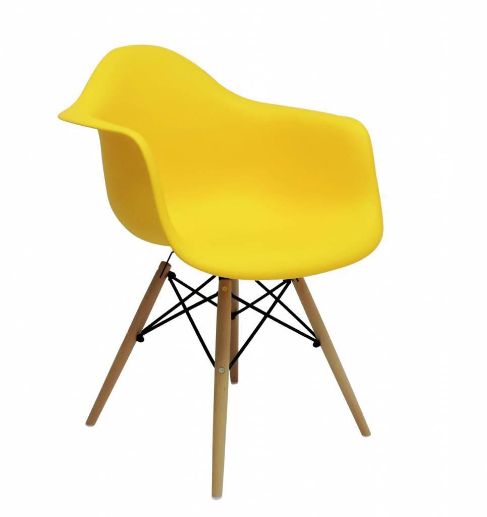 Kunstof Design Stoelen.Daw Eames Design Stoel Geel Eakus