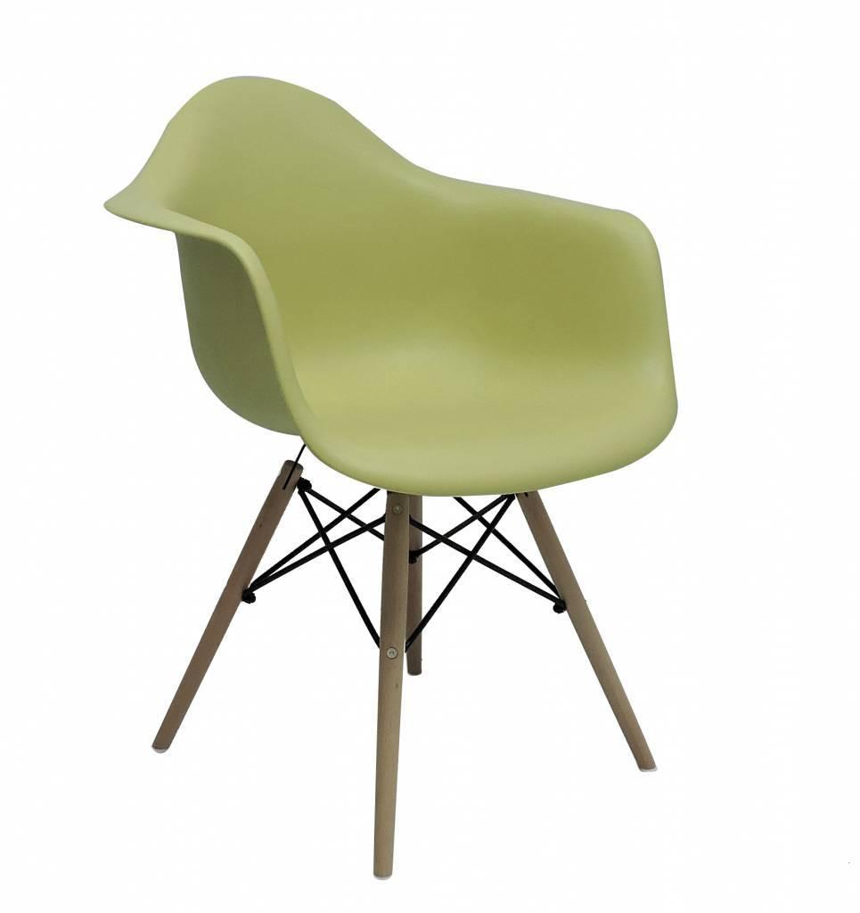 DAW Eames Design Stoel Geel