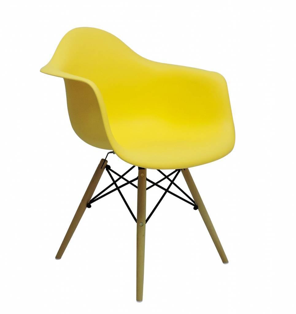 DAW Eames Design Stoel Geel 3 kleuren