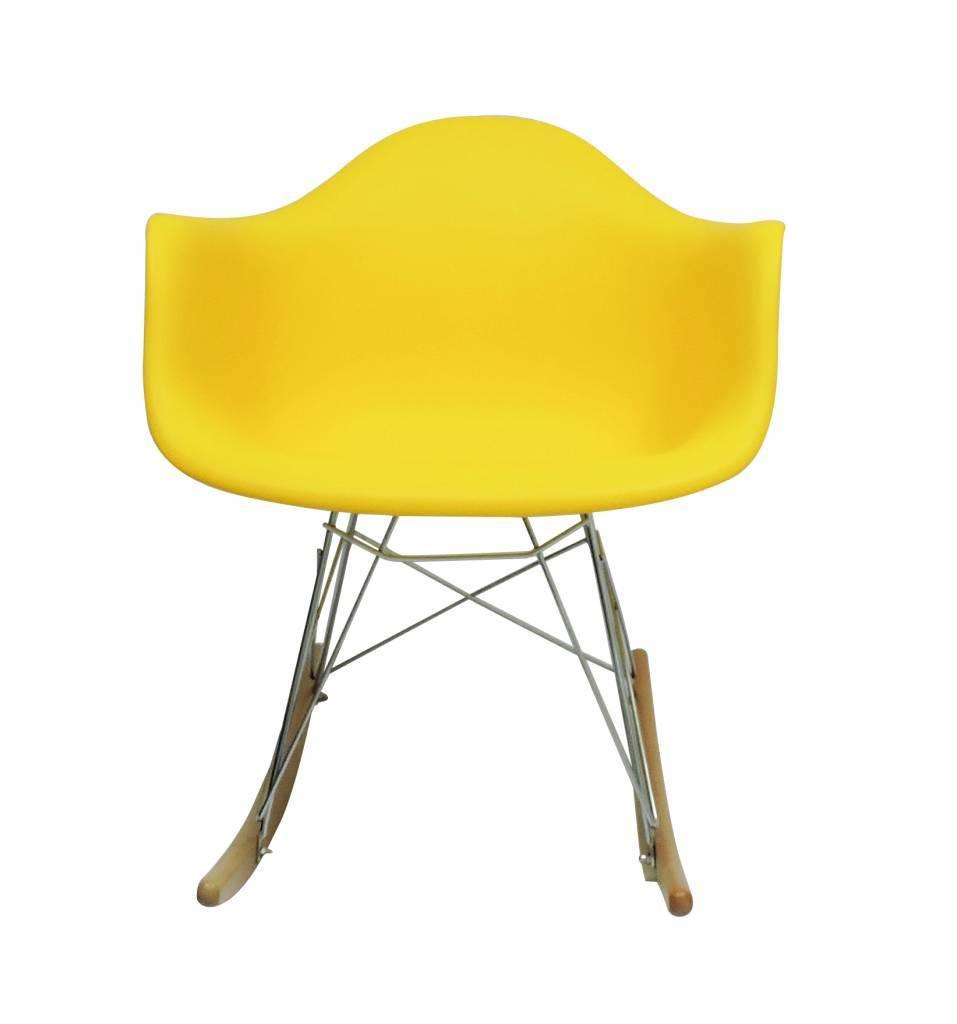 RAR Eames Design Rocking Chair Yellow