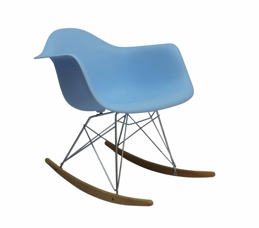 RAR Eames Design Schommelstoel Blauw