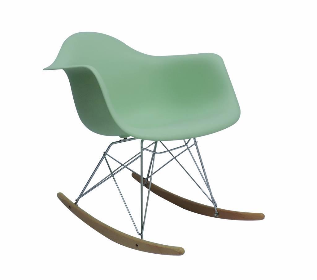 RAR Eames Design Schommelstoel Groen