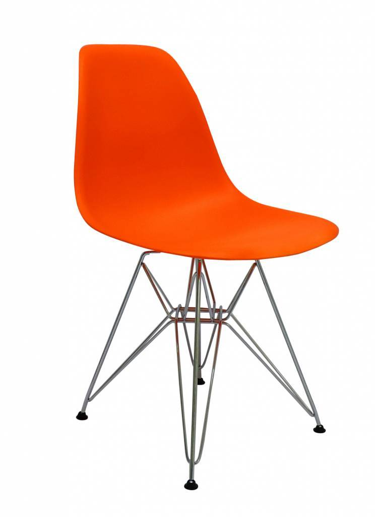 DSR Eames Design stoel Oranje 3 kleuren