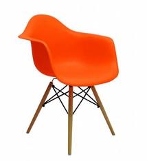 DAW Eames Design Stoel Oranje 3 kleuren