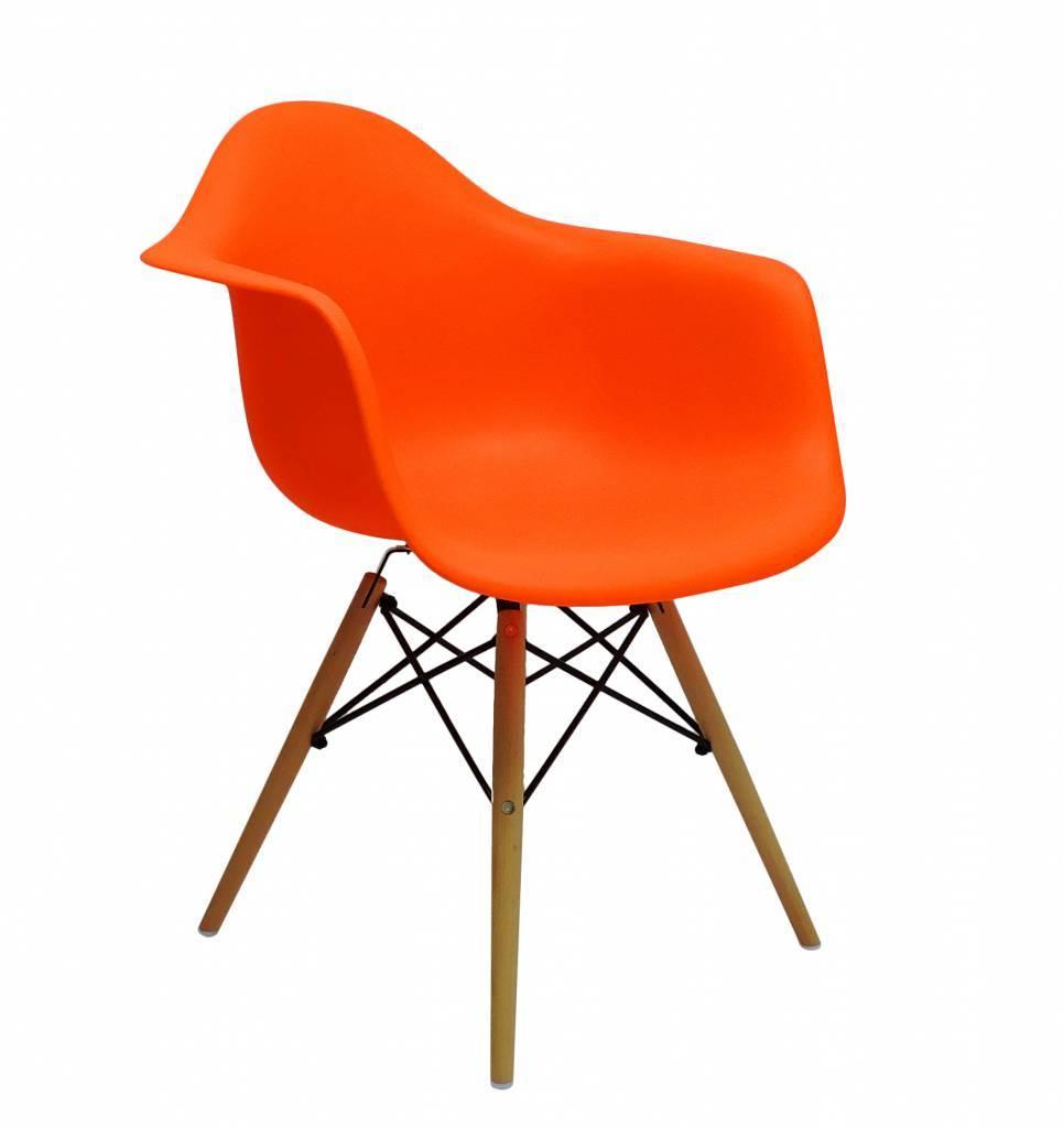 DAW Eames Design Stoel Oranje3 kleuren