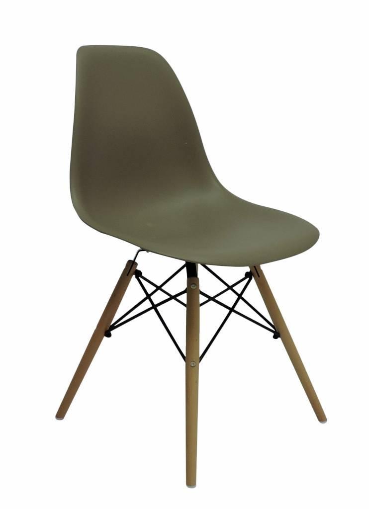 DSW Eames Design Eetkamerstoel Bruin