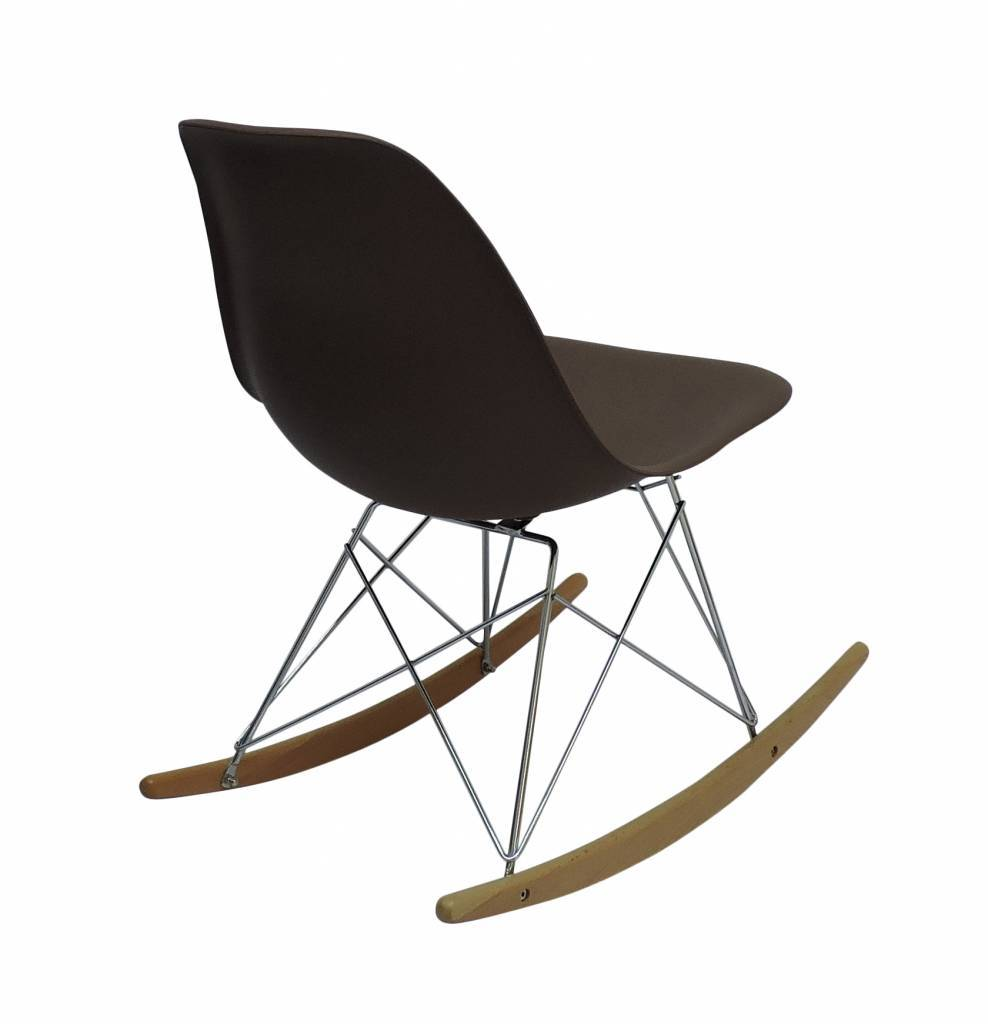 RSR Eames Design Rocking Chair Brown