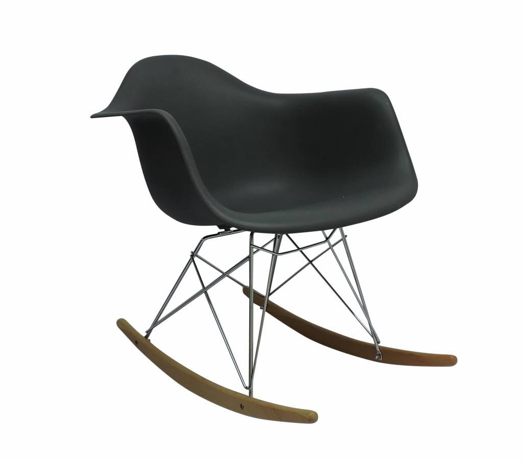 Mooie Grote Schommelstoel.Rar Eames Design Schommelstoel Grijs Eakus