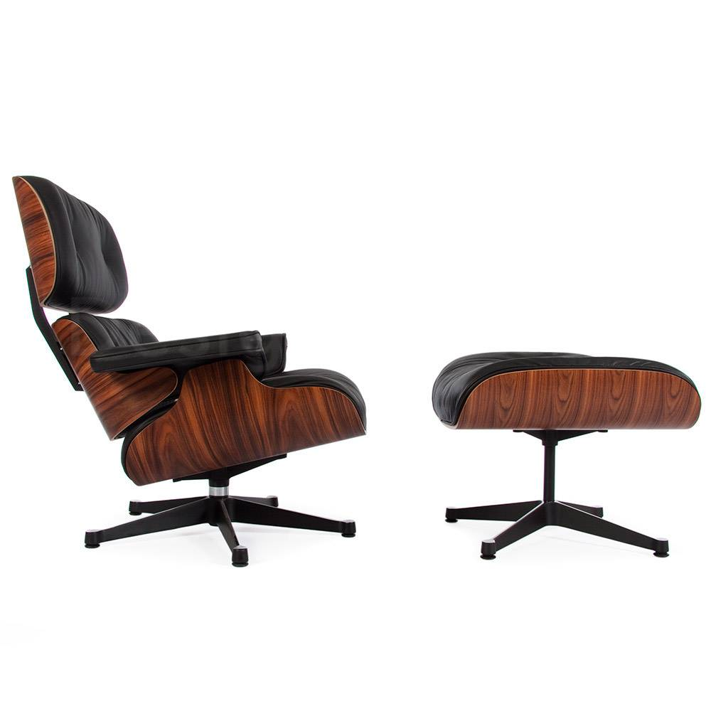 Eames Lounge Chair Rosewood Black