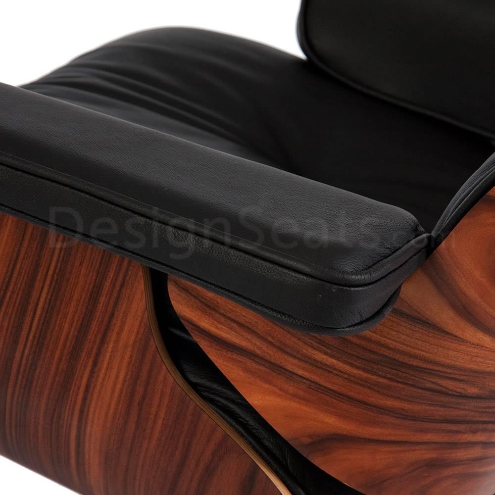 Eames Lounge Chair Rosewood Zwart