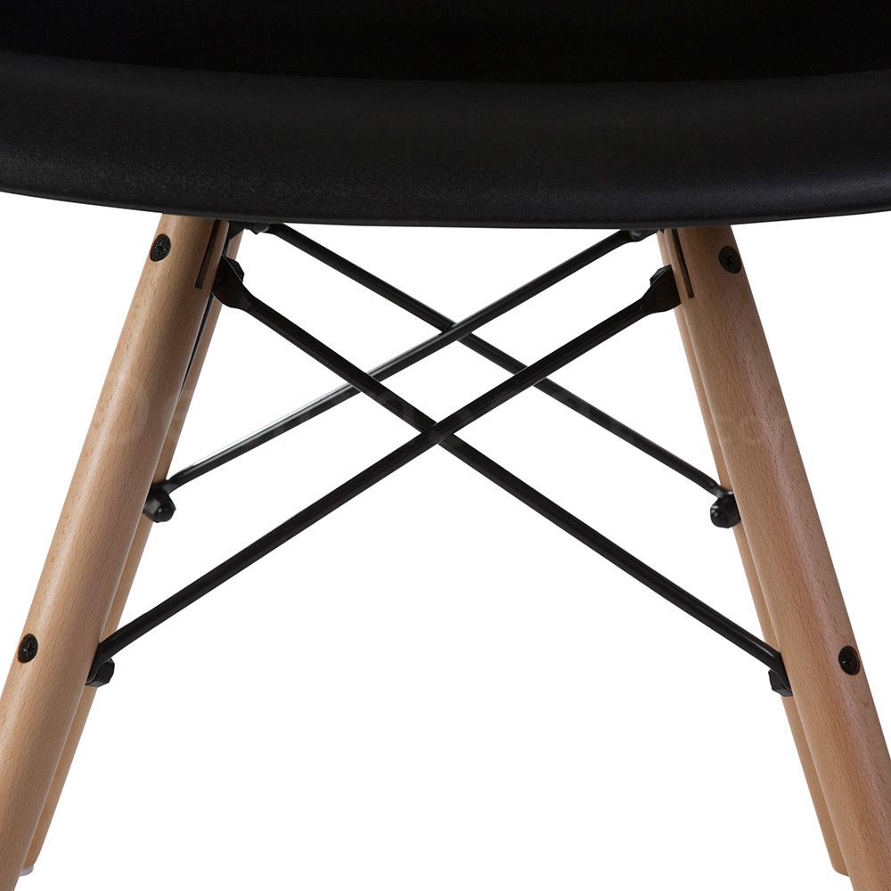 DAW Eames Design Stoel Zwart