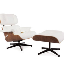 Eames Lounge Chair Walnut White