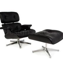 Eames Lounge Chair volledig Zwart