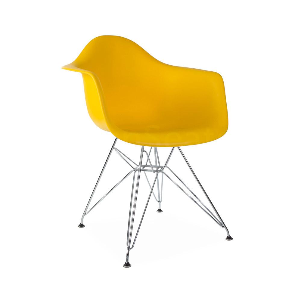 DAR Eames Design Stoel Geel 3 kleuren