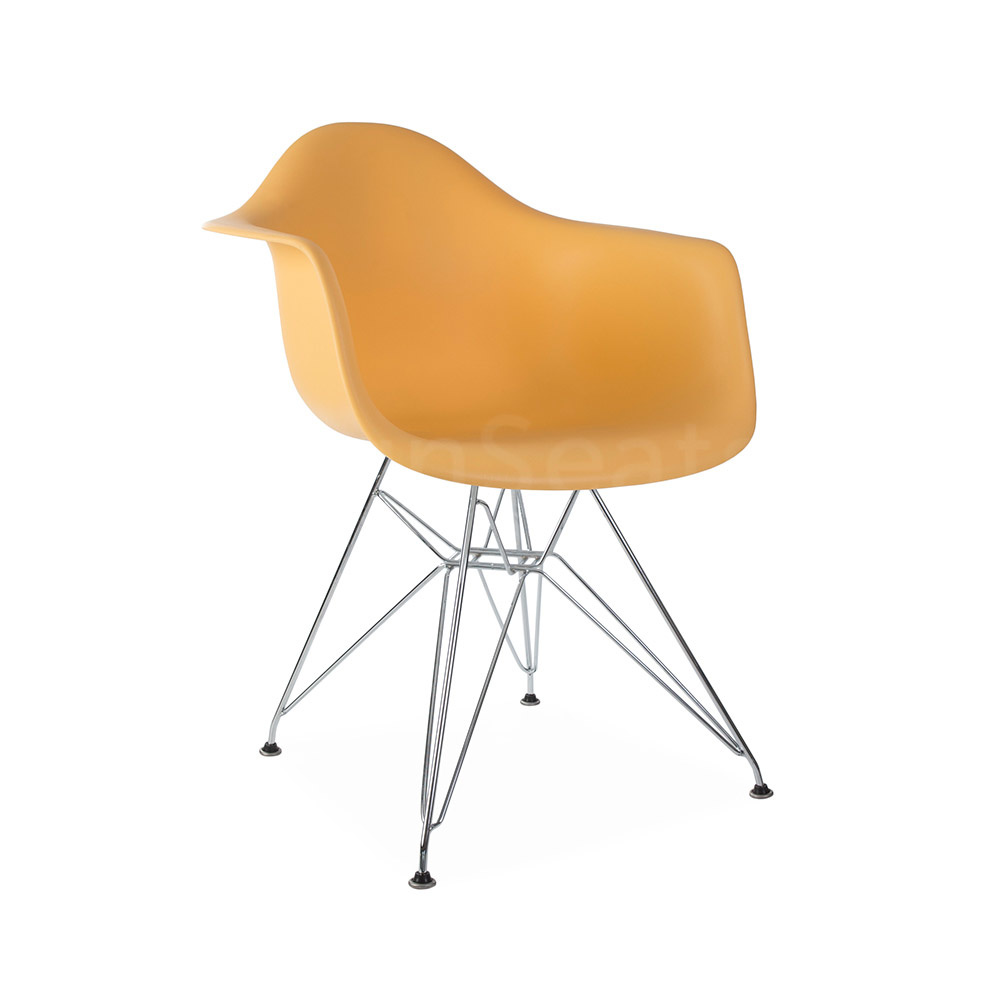 DAR Eames Design Stoel Oranje 3 kleuren
