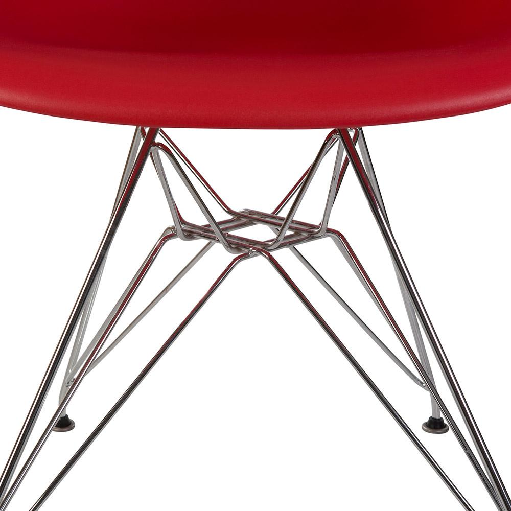 DAR Eames Design Stoel Rood