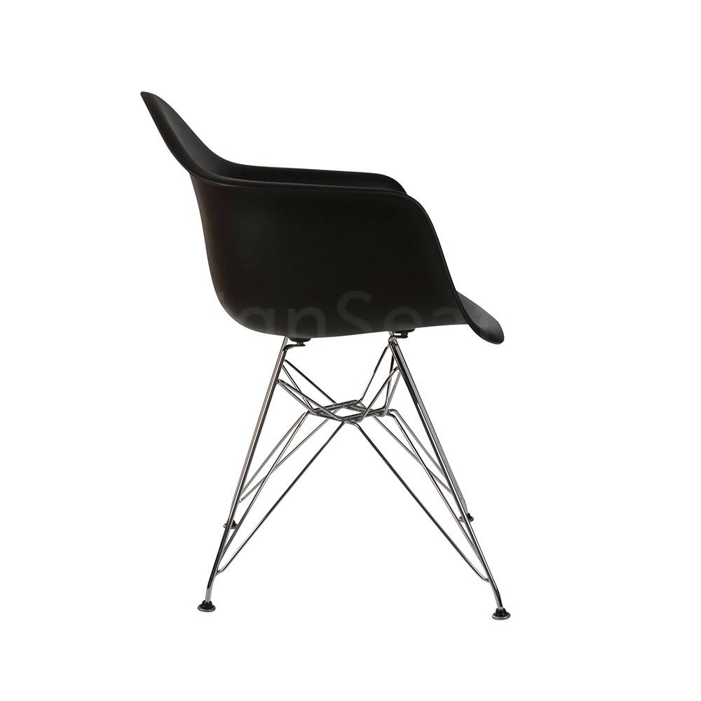 DAR Eames Design Stoel Zwart