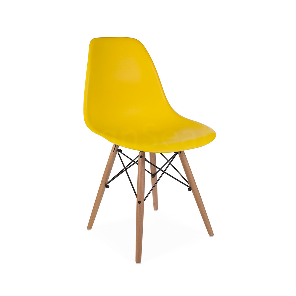 DSW Eames Design stoel Geel 3 kleuren