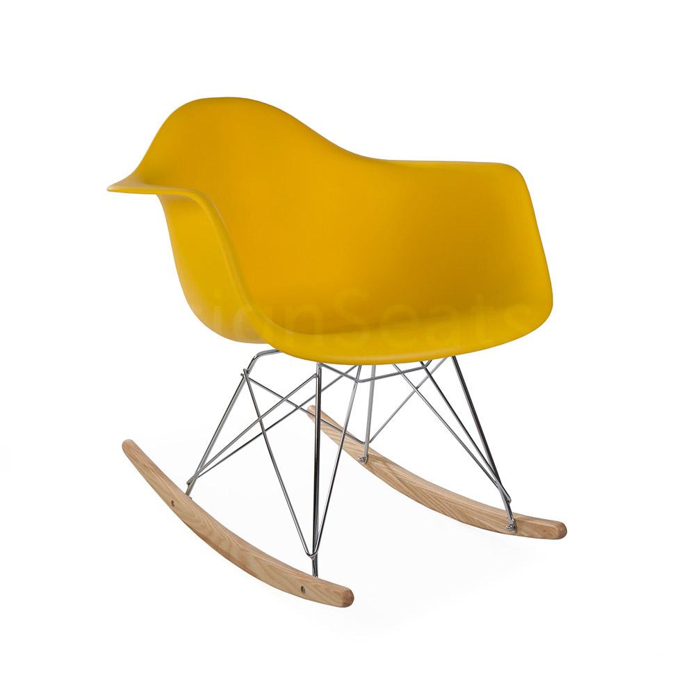 RAR Eames Design Schommelstoel Geel 3 kleuren