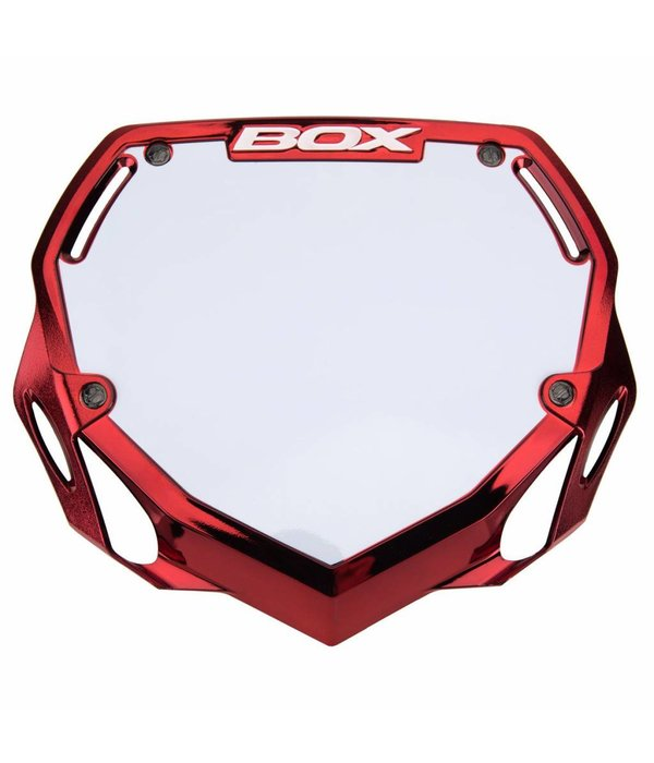 BOX BOX Phase 1 Skilt Large Rød/Chrome